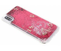 Guess Rotes Liquid Glitter Case iPhone X