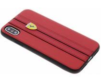 Ferrari Rotes Leatherette Hardcover iPhone X