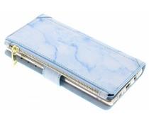 Blaue Luxuriöse Portemonnaie-Hülle Samsung Galaxy Note 8