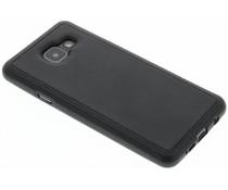 Schwarzes Leder TPU Case für Samsung Galaxy A3 (2016)