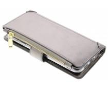 Graue Luxuriöse Portemonnaie-Hülle für das General Mobile GM6