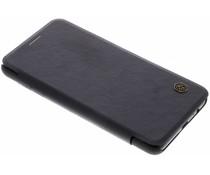 Nillkin Schwarzes Qin Leather Slim Booktype Hülle Galaxy A8 (2018)