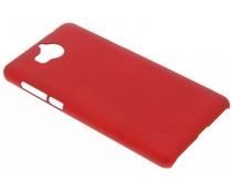 Rot unifarbene Hardcase-Hülle für Huawei Y6 (2017)