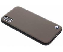 BMW Braune Genuine Leather Hard Case iPhone X