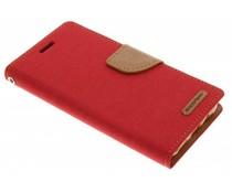 Mercury Goospery Canvas Diary Case für Samsung Galaxy J5 - Rot