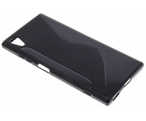 Schwarze S-Line TPU Hülle für das Sony Xperia XA1 Plus