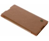 Nillkin Qin Leather Slim Booktype Hülle Braun für das Sony Xperia XA1 Plus