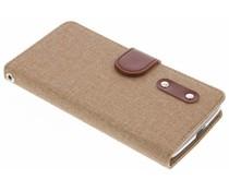 Leinen TPU Booktype Handyhülle für das Motorola Moto G5