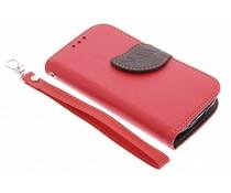 Blatt-Design TPU Booktype Hülle für Samsung Galaxy S3 Mini