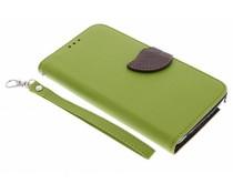 Blatt-Design TPU Booktype Hülle für Samsung Galaxy Note 4