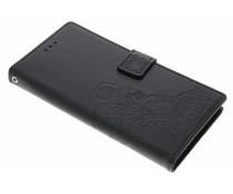 Kleeblumen Booktype Hülle Schwarz für Sony Xperia XA1 Ultra