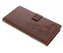 Kleeblumen Booktype Hülle Braun für Sony Xperia XA1 Ultra