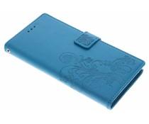 Kleeblumen Booktype Hülle Türkis für Sony Xperia XA1 Ultra