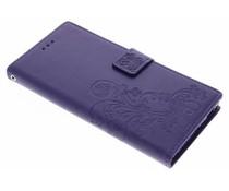 Kleeblumen Booktype Hülle Lila für Sony Xperia XA1 Ultra