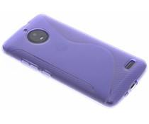 Violette S-Line TPU Hülle für Motorola Moto E4
