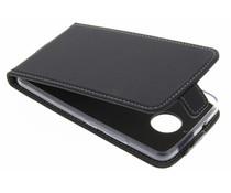 Accezz Schwarzer Flip Case für das Motorola Moto E4