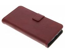 Rot Luxus Leder Booktype Hülle für Samsung Galaxy Xcover 4