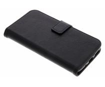 Schwarze Luxus Leder Booktype Hülle für Motorola Moto G5S Plus