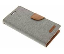 Mercury Goospery Grau Canvas Diary Case Samsung Galaxy S4