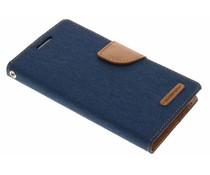 Mercury Goospery Blaues Canvas Diary Case Samsung Galaxy S4