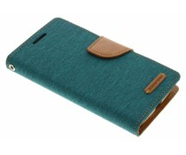 Mercury Goospery Grünes Canvas Diary Case Samsung Galaxy S4