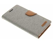 Mercury Goospery Grau Canvas Diary Case Samsung Galaxy S6 Edge Plus