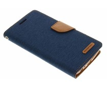 Mercury Goospery Blaues Canvas Diary Case LG G3