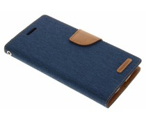 Mercury Goospery Blau Canvas Diary Case LG G4