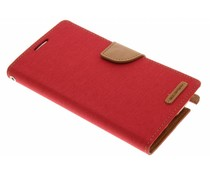 Mercury Goospery Rot Canvas Diary Case Samsung Galaxy Note 2