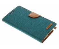 Mercury Goospery Grünes Canvas Diary Case Samsung Galaxy Note 2