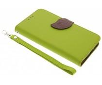 Blatt-Design TPU Booktype Hülle Grün für  Motorola Moto G5 Plus