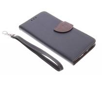 Schwarzes Blatt-Design TPU Booktype Hülle für LG G4