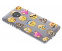 Emoji Design TPU Hülle für Motorola Moto E4