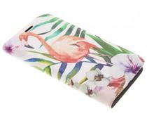 Flamingo Design Booklet für Motorola Moto E4 Plus