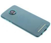 Türkise transparentes Gel Case für Motorola Moto Z2 Play