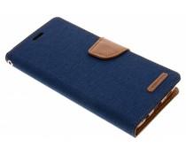 Mercury Goospery Blaues Canvas Diary Case Samsung Galaxy S9 Plus