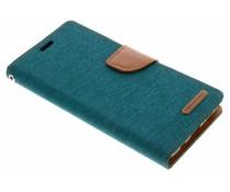 Mercury Goospery Grünes Canvas Diary Case Samsung Galaxy S9 Plus