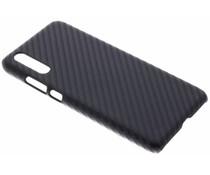 Carbon Look Hardcase-Hülle Schwarz für das Huawei P20