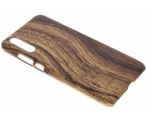 Dunkelbraune Holz-Design Hardcase-Hülle für das Huawei P20