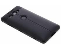 Schwarzes Leder Silikon-Case für das Sony Xperia XZ2 Compact