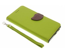 Blatt-Design TPU Booktype Hülle Grün für Sony Xperia XA1 Ultra