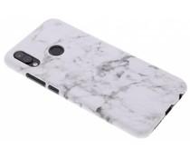 Weiße Marmor-Look Hardcase-Hülle für Huawei P20 Lite