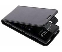 Schwarzes Leder TPU Flipcase für Sony Xperia XZ2 Compact