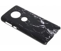 Schwarze Marmor-Look Hardcase-Hülle für das Motorola Moto G6