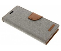 Mercury Goospery Graues Canvas Diary Case für das Samsung Galaxy S9