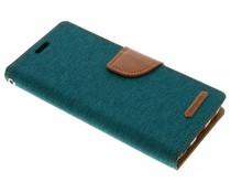 Mercury Goospery Grünes Canvas Diary Case für das Samsung Galaxy S9