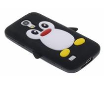 Pinguin-Silikon-Hülle Schwarz Samsung Galaxy S4 Mini