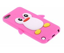 Pinguin-Silikon-Hülle in Fuchsia iPod Touch 5g / 6