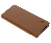 Nillkin Qin Leather Slim Booktype Hülle Braun für das Sony Xperia XZ2 Compact