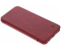 Nillkin Qin Leather Slim Booktype Hülle Rot für das Huawei P20 Lite